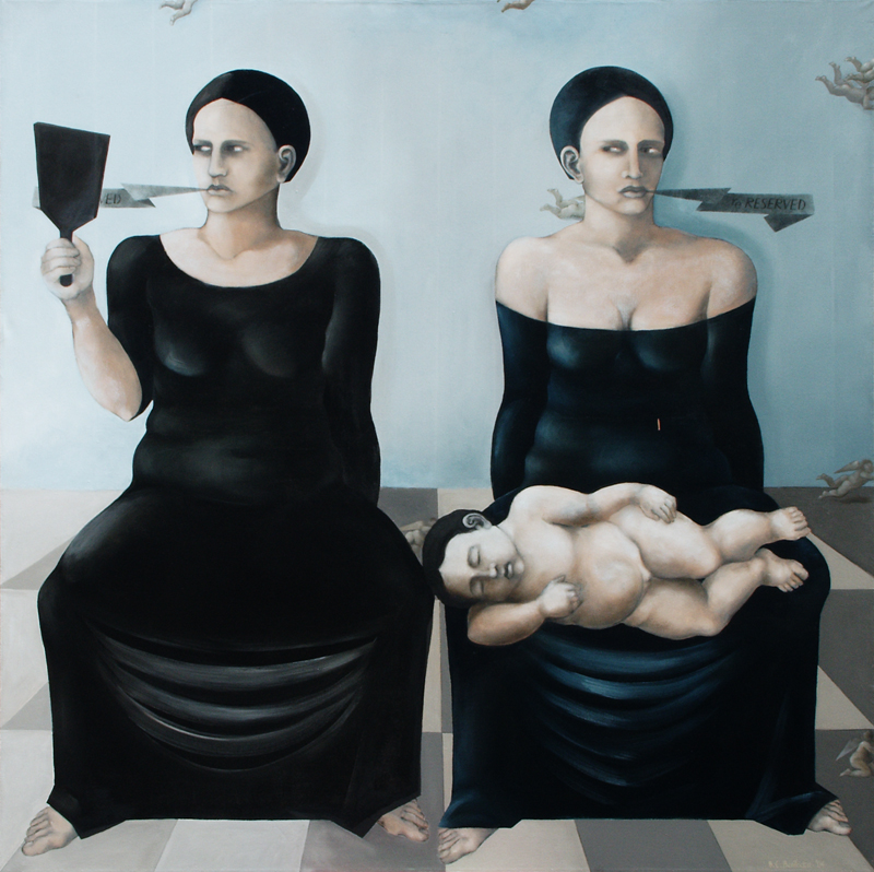 <i>Two Marys</i> 2005      150x150 cm, oil on canvas