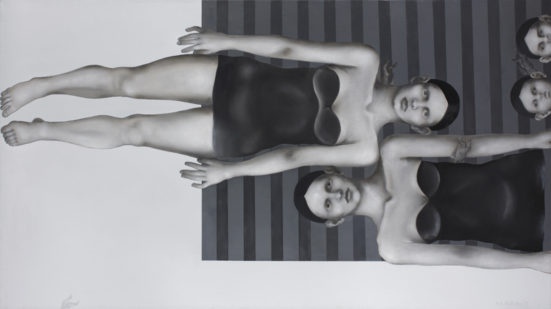 <i>Two mothers</i> 2007      100x180 cm, oil on canvas
