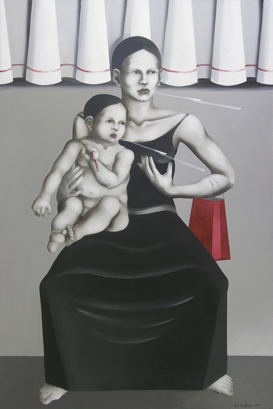 <i>Maternity</i> 2007      150x100 cm, oil on canvas