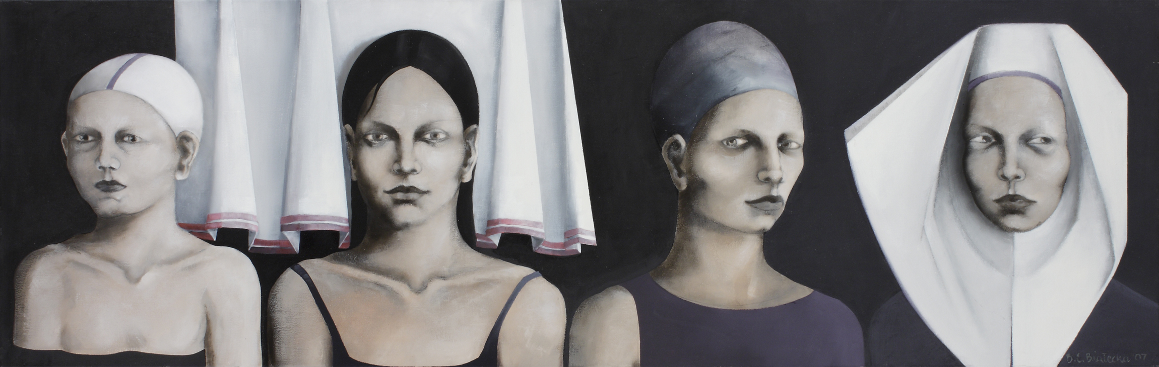 <i>Veronica</i> 2007      53x150 cm, oil on canvas