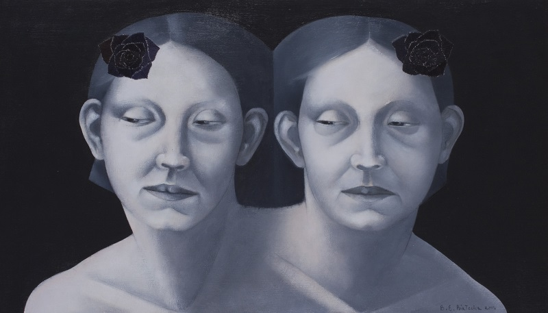 <i>Twins</i>  2013      40x70 cm, oil on canvas